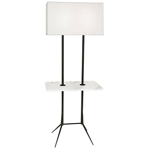 """Martin 60 1/2""""H Modern Bronze Floor Lamp with Marble Table"""