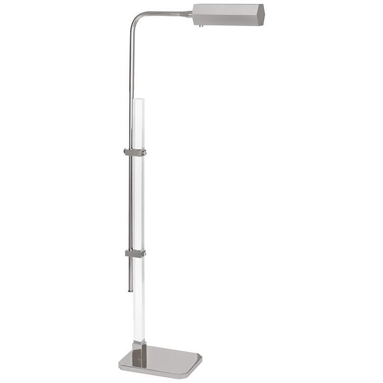 Plexus Polished Nickel Adjustable LED Floor Lamp