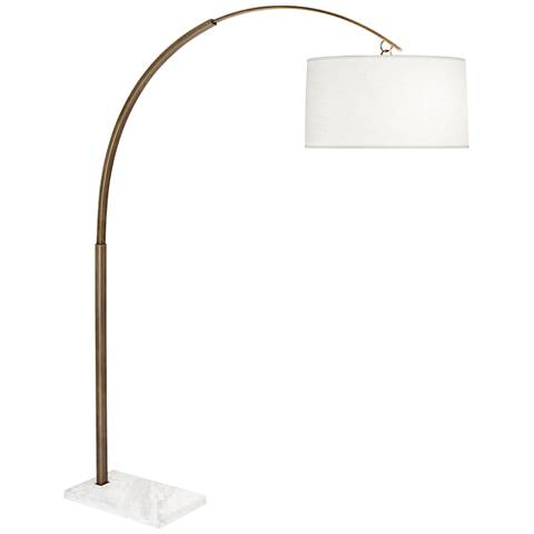 Robert Abbey Archer Small Warm Brass Arch Floor Lamp