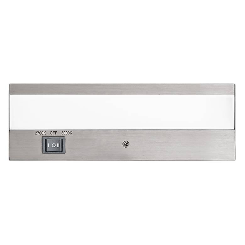 "WAC DUO 8"" Wide Brushed Aluminum LED Under Cabinet Light"