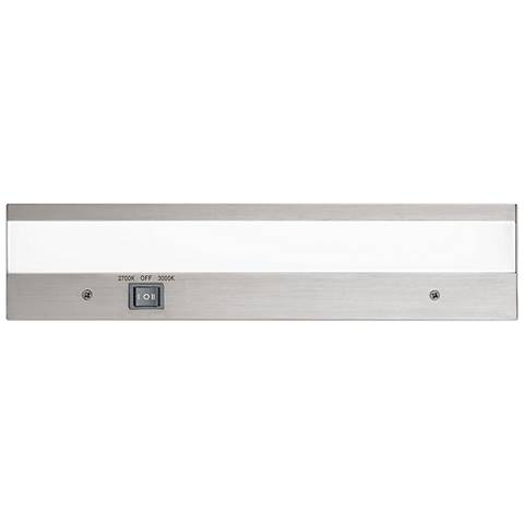 "WAC DUO 12"" Wide Brushed Aluminum LED Under Cabinet Light"