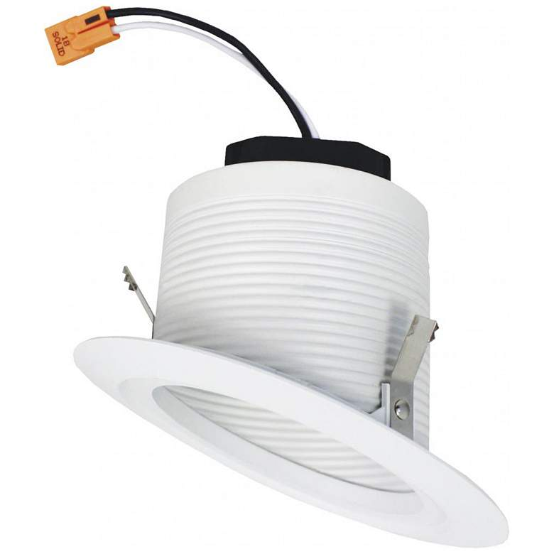 """Elco 4"""" White Sloped Ceiling LED Baffle Recessed Downlight"""