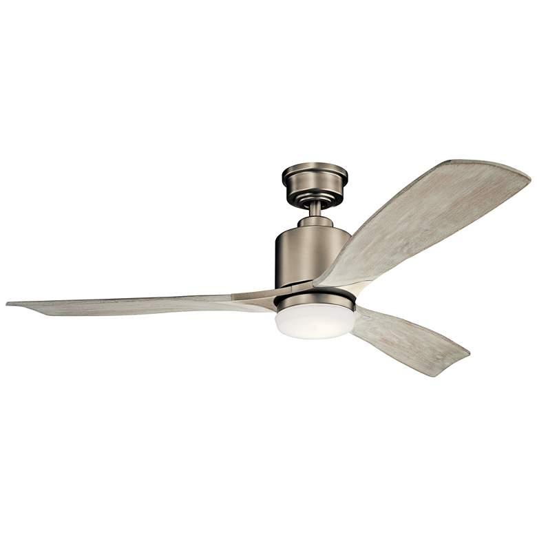 "52"" Kichler Ridley II Antique Pewter LED Ceiling Fan"