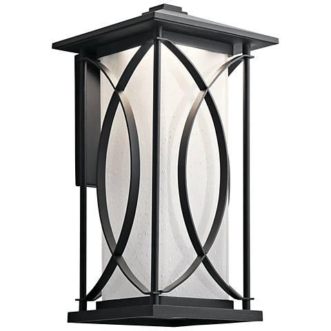 """Ashbern 18 1/4"""" High Textured Black LED Outdoor Wall Light"""