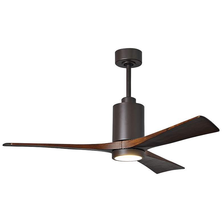 "52"" Matthews Patricia-3 Bronze LED Damp Ceiling Fan"