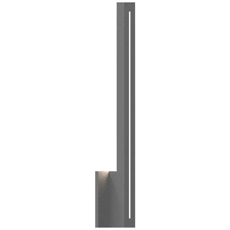 "Inside Out Stripe™ 24"" High Gray LED Outdoor Wall Light"