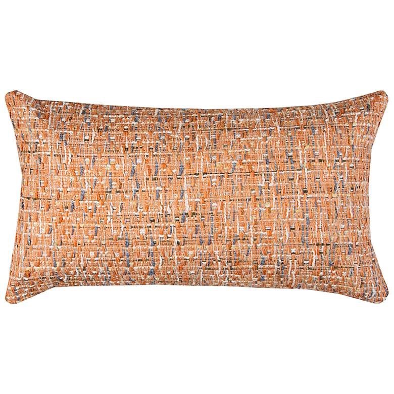 """Orange All Over Threaded 26"""" x 14"""" Decorative Filled Pillow"""