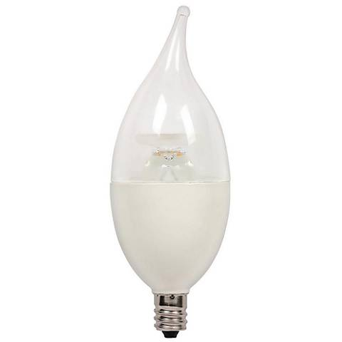 60W Equivalent Clear 7W LED Dimmable Flame-Tip Candelabra