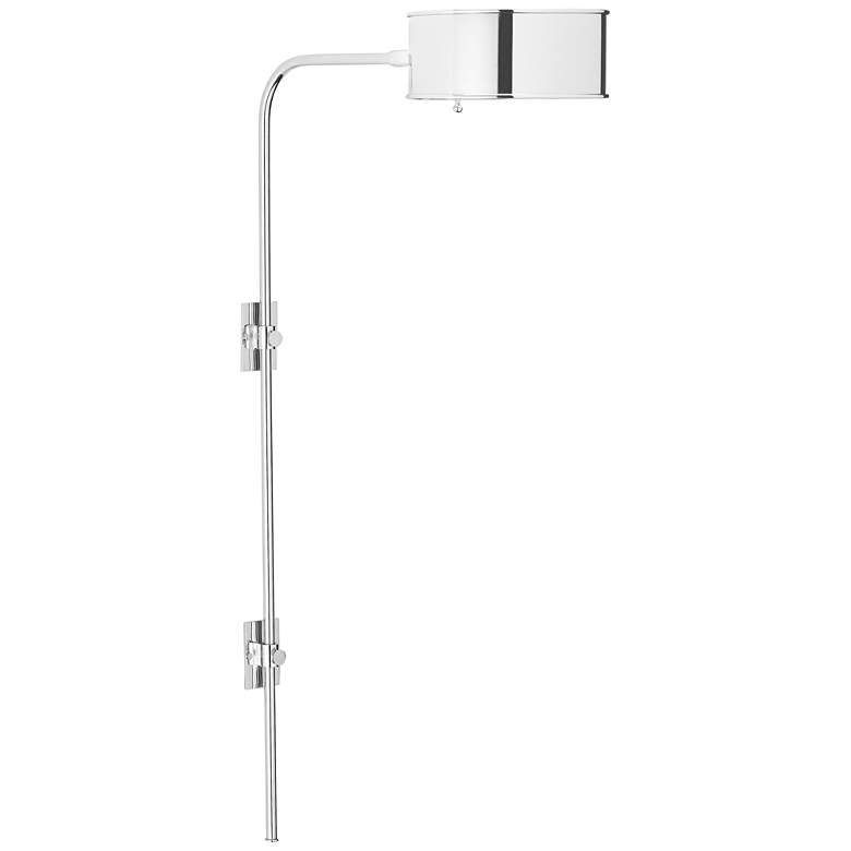 Overture Polished Nickel Plug-In Wall Lamp