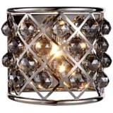 """Madison 10 1/2""""H Nickel Wall Sconce w/ Silver Shade Crystals"""