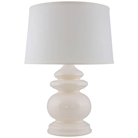 RiverCeramic® Cottage Gloss White Table Lamp