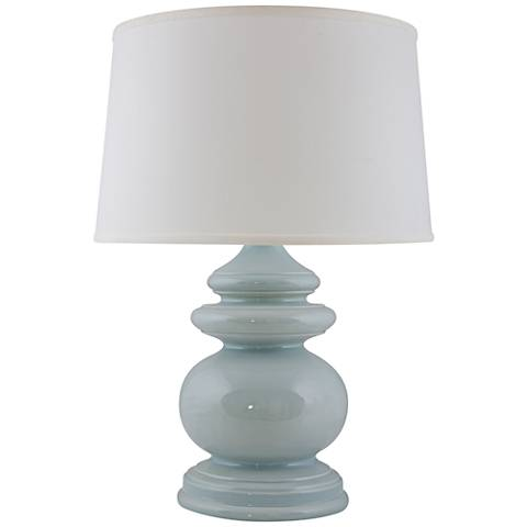 RiverCeramic® Cottage Gloss Mist Blue Table Lamp