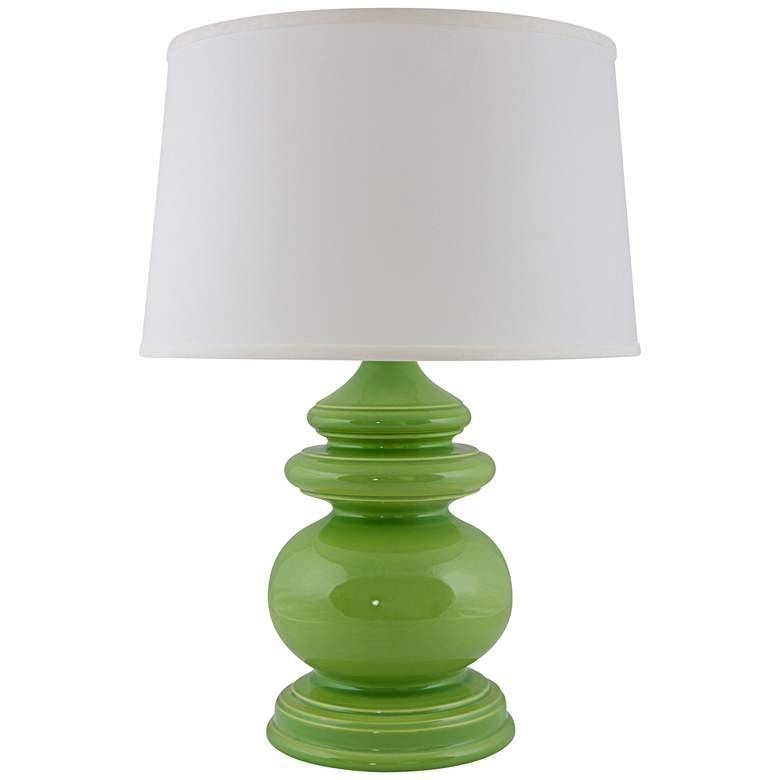RiverCeramic® Cottage Gloss Clover Green Table Lamp