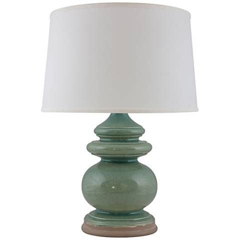 RiverCeramic® Cottage Ocean Spray Crackle Table Lamp