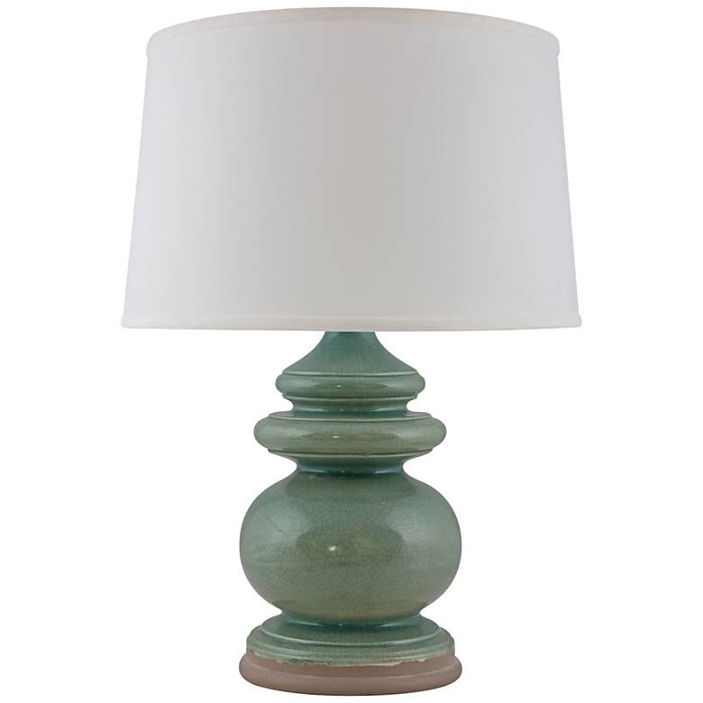 RiverCeramic® Cottage Ocean Spray Crackle Table Lamp