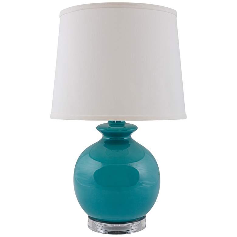 RiverCeramic® Bristol Gloss Blue Accent Table Lamp