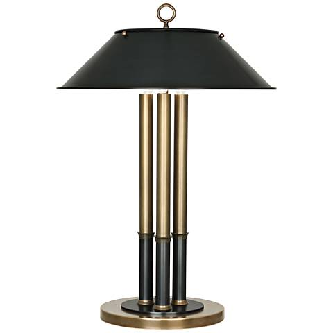 Robert Abbey Aaron Warm Brass and Patina Bronze Table Lamp