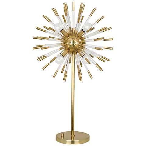 Robert Abbey Andromeda Modern Brass Sphere Table Lamp