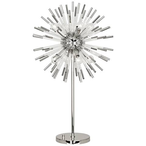 Robert Abbey Andromeda Polished Nickel Sphere Table Lamp