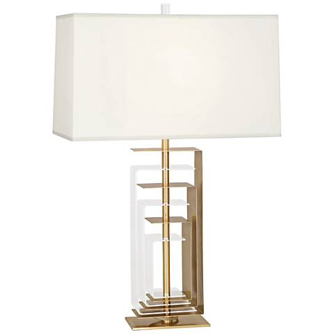 Robert Abbey Braxton Modern Brass and Acrylic Table Lamp