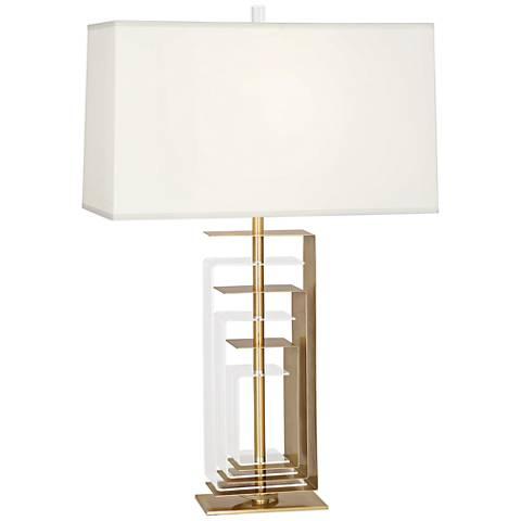 Robert Abbey Braxton Modern Brass and Acrylic Table Lamp