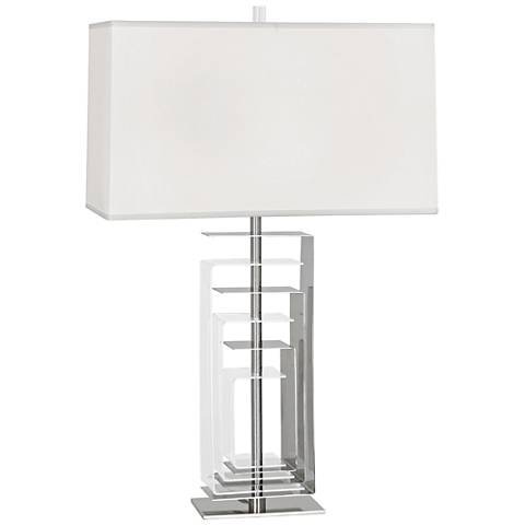 Robert Abbey Braxton Polished Nickel and Acrylic Table Lamp