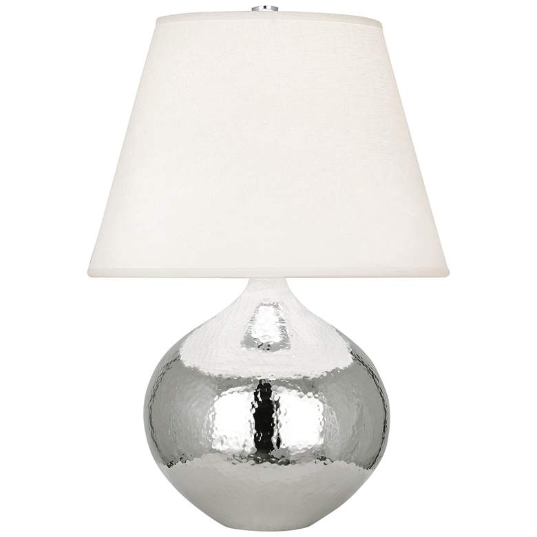 "Dal 19 1/4"" High Polished Nickel Vessel Accent Table Lamp"
