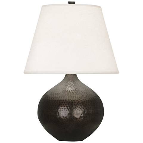 """Dal 19 1/4"""" High Deep Patina Bronze Vessel Accent Table Lamp"""