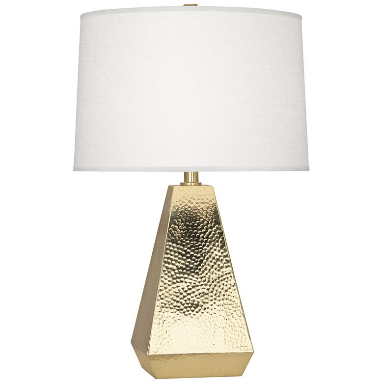 Robert Abbey Dal Modern Brass Tapered Table Lamp