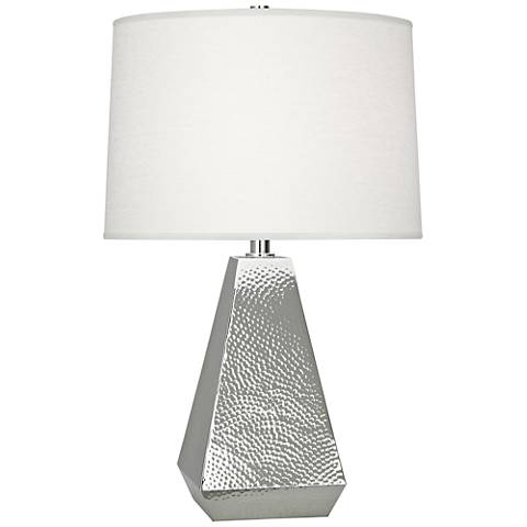 Robert Abbey Dal Polished Nickel Tapered Table Lamp
