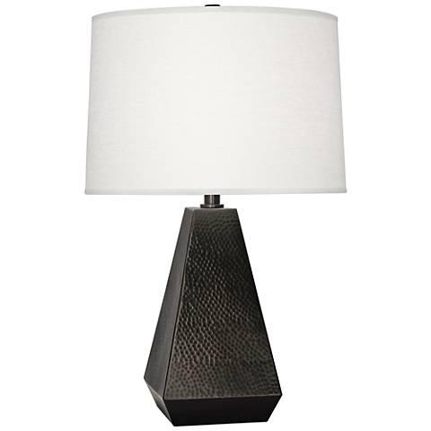 Robert Abbey Dal Deep Patina Bronze Tapered Table Lamp