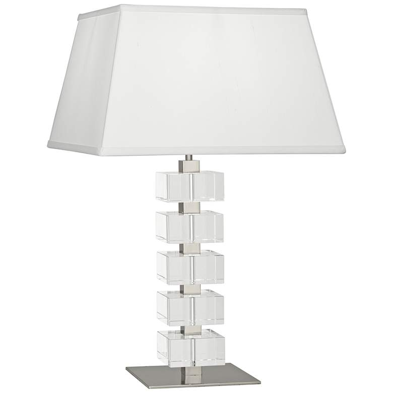 Jonathan Adler Monaco Nickel and Clear Crystal Table Lamp