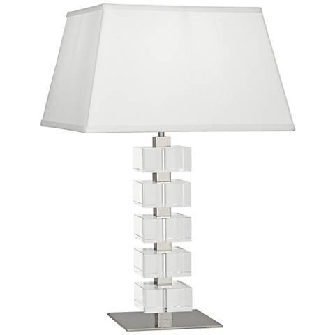 Jonathan Adler Monaco Nickel and Clear Crystal Table Lamp