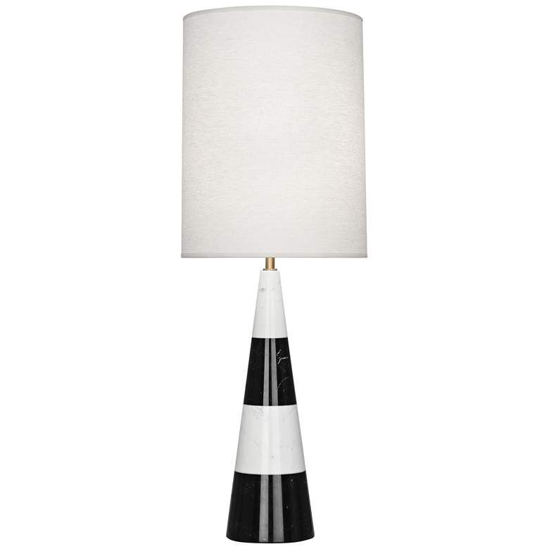 Canaan White and Black Tapered Table Lamp with