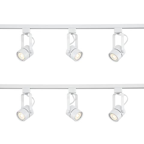 Two Pro Track Linear 3-Light White LED Track Kits w/Connector