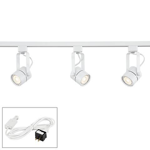 Linear 3-Light White LED Bullet Track Kit w/ Connector