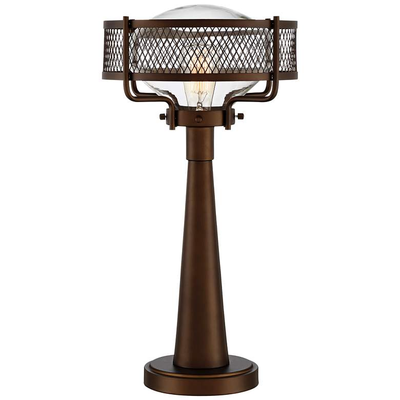 Travis Bronze Finish Farmhouse Style Table Lamp