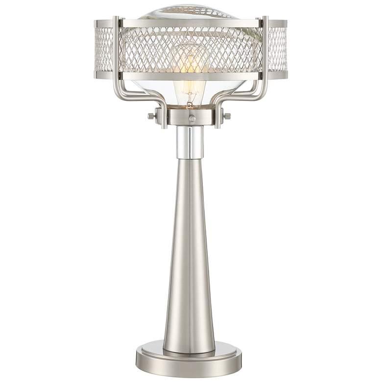 Travis Brushed Nickel Modern Table Lamp