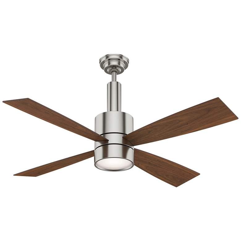 """54"""" Casablanca Bullet Brushed Nickel LED Ceiling Fan"""
