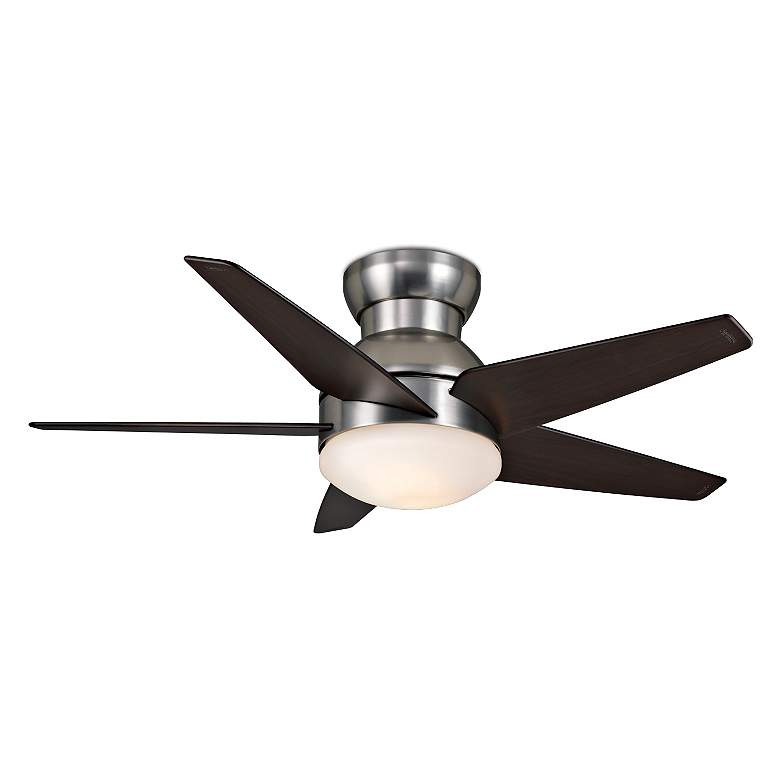 "44"" Casablanca Isotope Brushed Nickel Hugger LED Ceiling Fan"