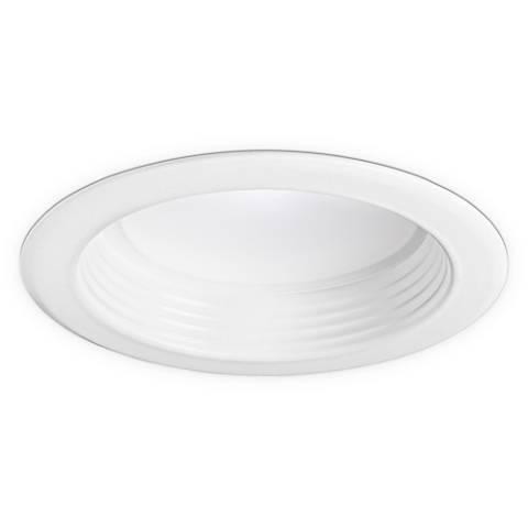 "4"" White Baffle 10 Watt 580 Lumen Dimmable LED Retrofit Trim"
