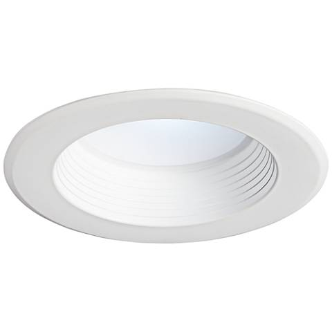 "5/6"" White Baffle 12 Watt Dimmable LED Retrofit Trim"