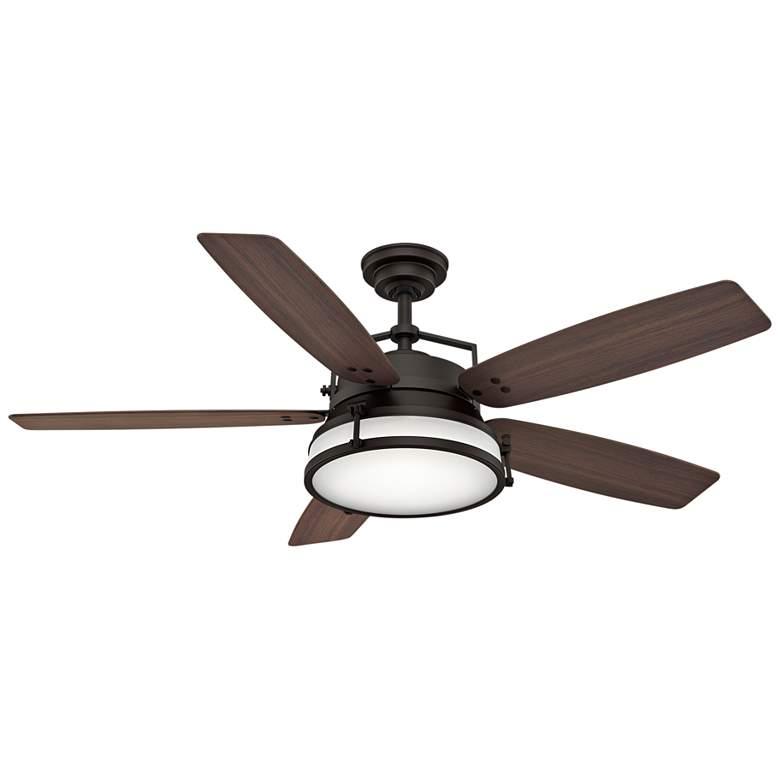 "56"" Casablanca Caneel Bay Bronze LED Outdoor Ceiling Fan"