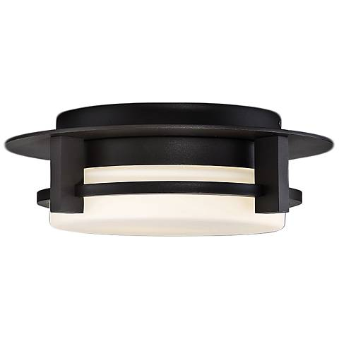 "dweLED Compass 12"" Wide Bronze LED Ceiling Light"