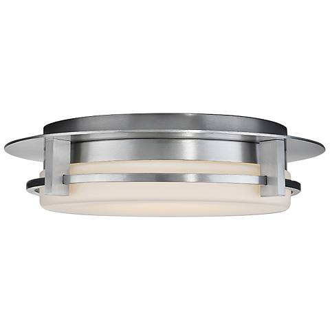 "dweLED Compass 16"" Wide Brushed Aluminum LED Ceiling Light"