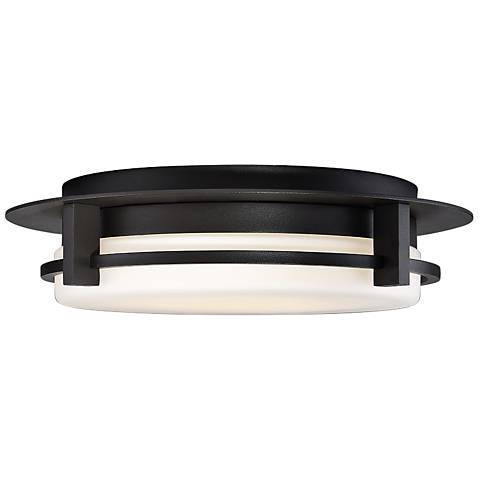 "dweLED Compass 16"" Wide Bronze LED Ceiling Light"