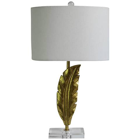 Trumball Gold Quill Table Lamp