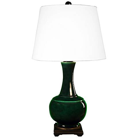 Pfeiffer Copper Green Genie Bottle Ceramic Table Lamp