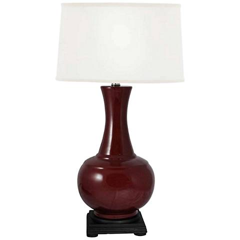 Pfeiffer Dark Red Genie Bottle Ceramic Table Lamp