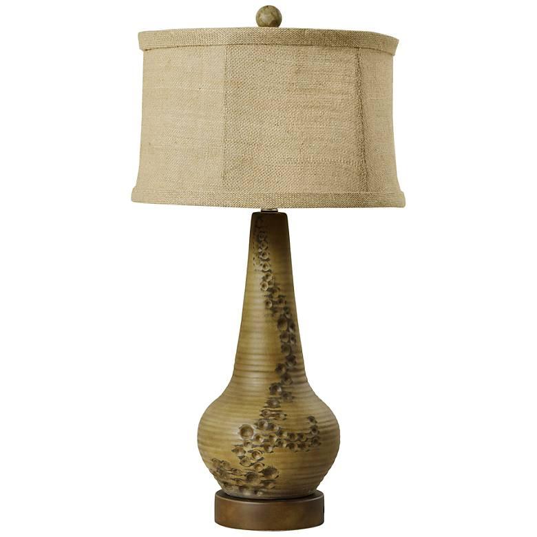 Meyers Fossil Distressed Vase Ceramic Table Lamp